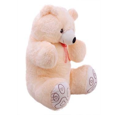 Valentine Combo of 2 Feet Teddy & Soft Toy Heart - Cream