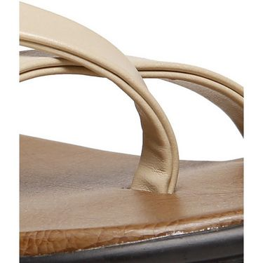 Ultimate Synthetic Leather Sandal - Cream