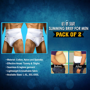 Get In Shape Slimming Brief for Men - Pack of 2