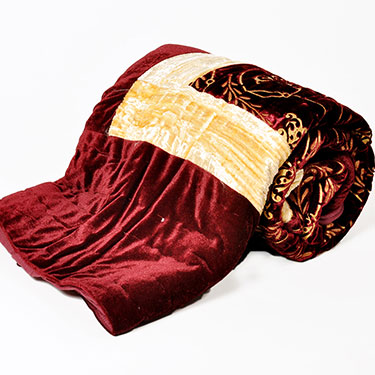Little India Designer Printed Single Bed Velvet AC Quilt - Maroon