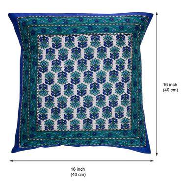 eCraftIndia Floral Design Set of 5 Cotton Cushion Covers-HF5CC183_M