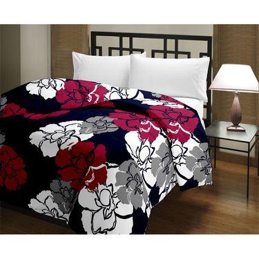 eCraftIndia Designer Printed Single Bed Reversible AC Blanket-HFBD001