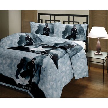 eCraftIndia Designer Printed Single Bed Reversible AC Blanket-HFBD137