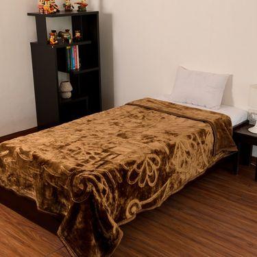 eCraftIndia Designer Printed Single Bed Mink Blanket-HFSMB105