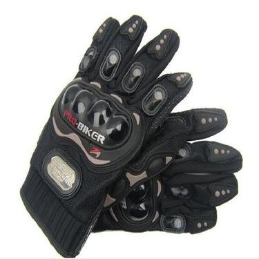 Combo of Bike Body Cover + ProBiker Gloves + Flash Wheel Lights + Hanging Ganesha for Royal Enfield Bullet Electra Twinspark COMBOBKBLACK-ROYAL3