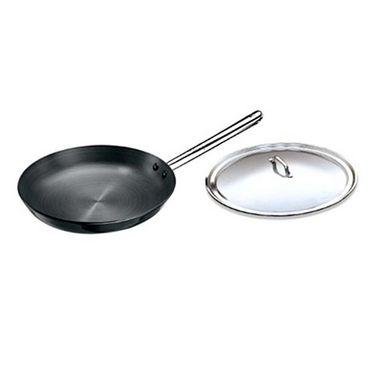 Hawkins Futura HA Frying Pan with SS Lid and Handle 30cm - Black