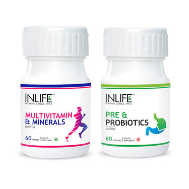 INLIFE DigestiveHealthCombo Of  Pre & Probiotics Multivitamin & Minerals