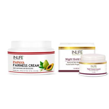 INLIFE Skin Rejuvenation Combo - Natural Night Gold & Papaya Fairness Cream