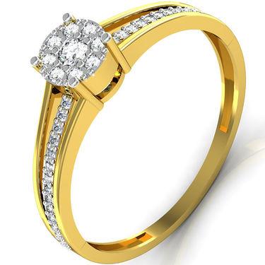 Avsar Real Gold & Swarovski Stone Jammu Ring_I043yb