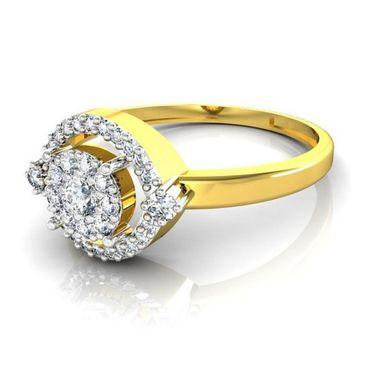 Avsar Real Gold & Swarovski Stone Namita Ring_I050yb