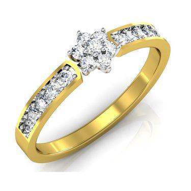 Avsar Real Gold & Swarovski Stone Jayshree Ring_I088yb