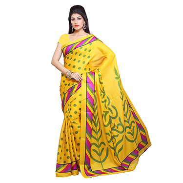 Set of 5 Ishin Bhagalpuri Silk Printed Saree-Combo-33