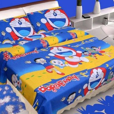 Set Of 4 IWS Kids Cotton Printed Double Bedsheet with 8 Pillow Cover