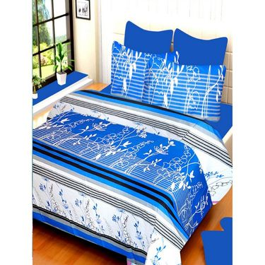 IWS Set of 4 100% Cotton Double Bedsheet with 8 Pillow Cover-IWS-CB-651