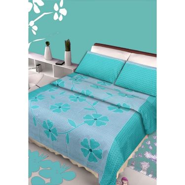 IWS Set of 4 100% Cotton Double Bedsheet with 8 Pillow Cover-IWS-CB-654