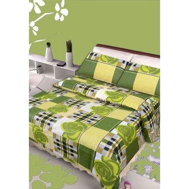 IWS Designer Cotton Printed Double Bedsheet with 2 Pillow cover- IWS-CB-84
