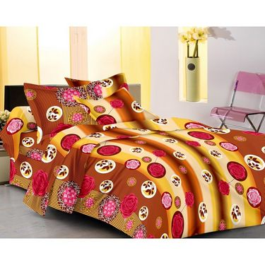 IWS Set of 4 Designer Double Cotton Bedsheet with 8 Pillow cover IWS-FCCB-56
