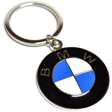 AutoSun BMW Chrome Plated Steel Imported key chain key ring car logo for 1 3 GT 5 6 7 X Z4 M I models