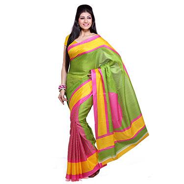 Pack of 3 Ishin Printed Bhagalpuri Silk Saree-Combo-167