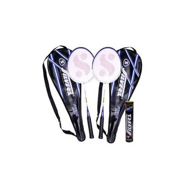 Silver's Pack of 2 Junior Jb 909 Badminton Racquets With 1 Box Marvel Shuttle Cock