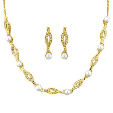 Jpearls Carmel Fashion Pearl Necklace Set - JPJUN-14-315