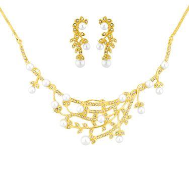 Jpearls Daisy Pearls Necklace Set - JPNOV-14-151