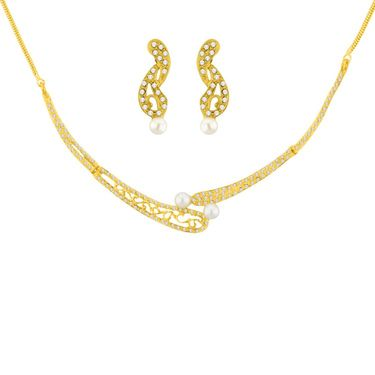 Jpearls Honey Pearl Necklace Set - JPOCT-14-069