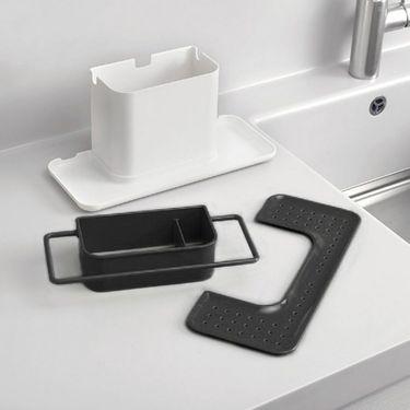 Kawachi 3 in 1 Bathroom Sink Organizer-Black