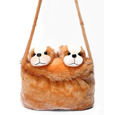 Kids Brown Stuff Bag - Hosiery Chenille 1002