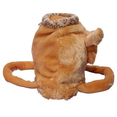 Kids Brown Stuff Bag - Hosiery Chenille 1004