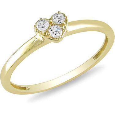 Kiara Swarovski Signity Sterling Silver Divya Ring_Kir0673 - Golden