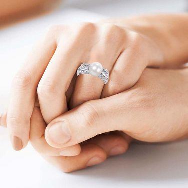 Kiara Swarovski Signity Sterling Silver Katrina Ring_Kir0682 - Silver