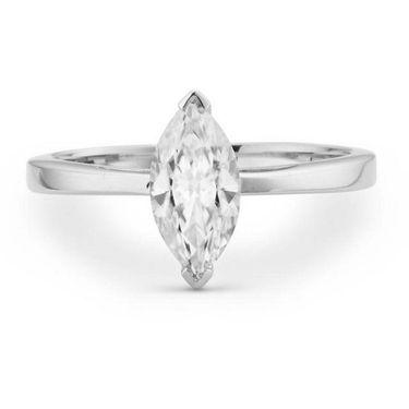 Kiara Swarovski Signity Sterling Silver Pournima Ring_Kir0709 - Silver
