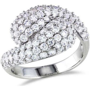 Kiara Swarovski Signity Sterling Silver Pannu Ring_Kir0753 - Silver