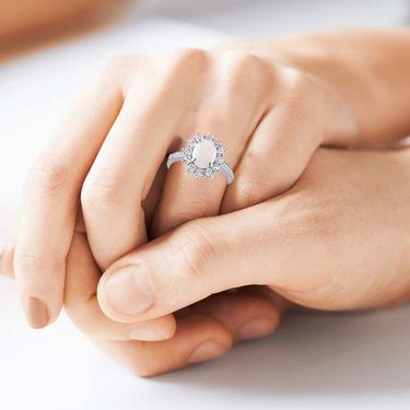 Kiara Swarovski Signity Sterling Silver Kareena Ring_Kir0794 - Silver
