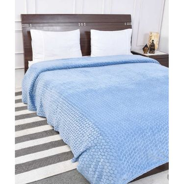 Amore Designer Printed Double Bed Fleece Blanket-KSB12