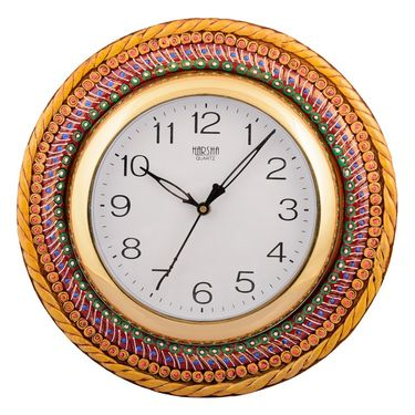 Wooden Papier Mache Glorious Wall Clock-KWC559