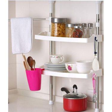 Branded Kawachi Multifunction Home Stainless Steel Kitchen Shelving Storage Rack Dish Rack