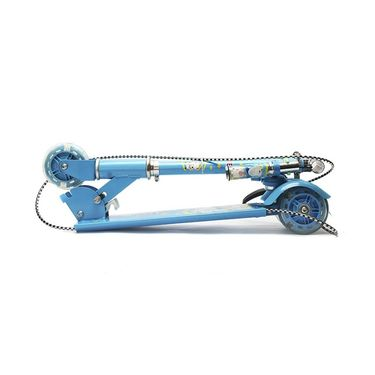 Kids Foldable Bell and Brakes Scooter - Blue