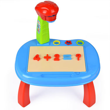 Kids Educational Projector Painting Activity Desk with Drawing & Learning Kit