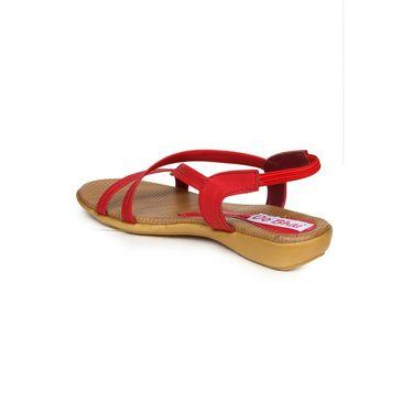 Do Bhai Suede Flats Kim-Sandal-Red