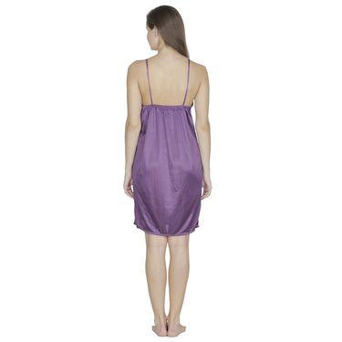 Klamotten Satin Plain Nightwear - Purple - X01_Prpl