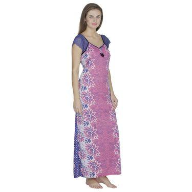 Klamotten Cotton Plain Nighty - Pink - X108_Flw_Pink