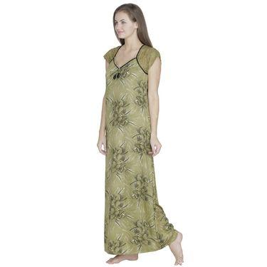 Klamotten Cotton Printed Nighty - Green - X108_Pr_Grn