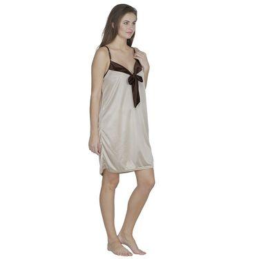 Klamotten Satin Plain Nightwear - Cream - X56_Cream