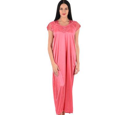 Klamotten Satin Plain Nightwear - Pink - YY104