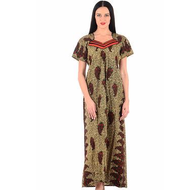 Klamotten Cotton Block Print Nightwear - Multicolor - YY202