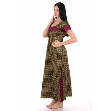 Klamotten Cotton Block Print Nightwear - Multicolor - YY203
