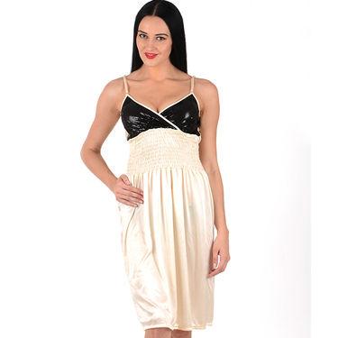 Klamotten Satin Plain Nightwear - Beige - YY24