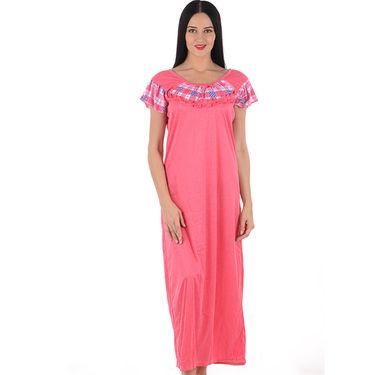 Klamotten Cotton Plain Nightwear - Pink - YY25